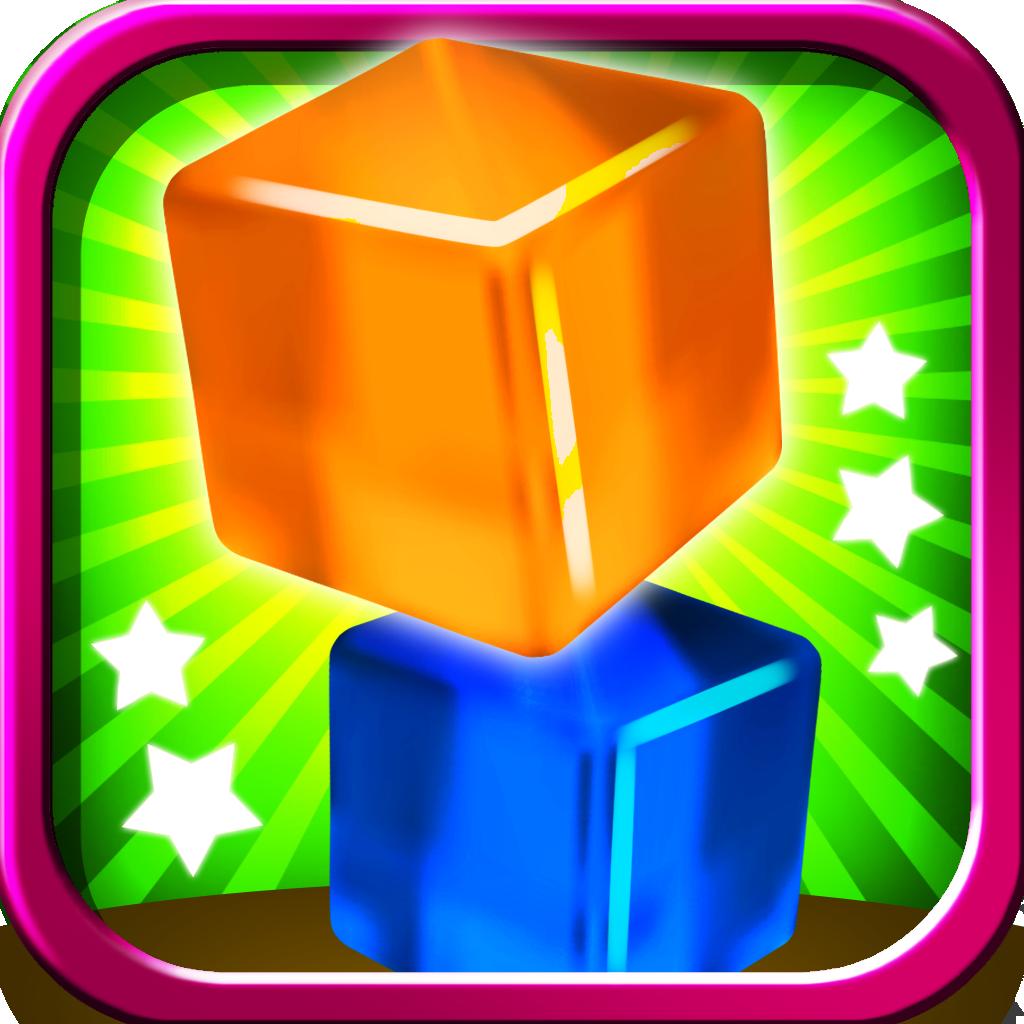 Башня из замороженных кубиков желе – Помешательство на складывании свободно падающих блоков - Pro